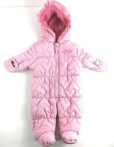 f122e7391 Image is loading Weatherproof-Infant-Girls-Snowsuit -Bunting-Pink-Fleece-Lined-
