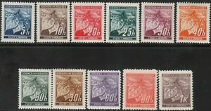 Stamp-Germany-Bohemia-Czech-1939-WWII-Linden-Leaf-Set-Monrovia-Occupation-MNH