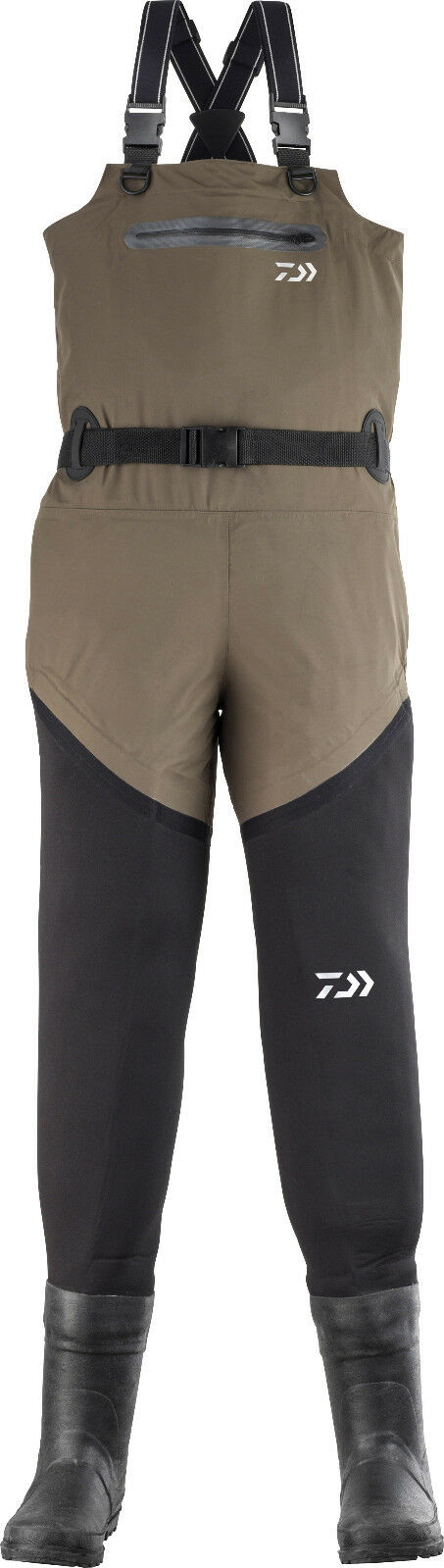 DAIWA D-vec neoprene impermeabili in nylon traspirante Watt Pantaloni 15000mm colonna d'acqua Top