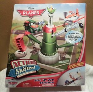 2 Sets Disney Planes Action Shifters Skippers School// Fill  Fly Station New Cars