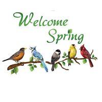 Welcome Spring Garage Door Magnets