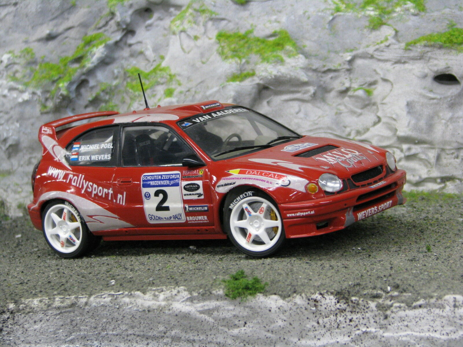 QSP Toyota Corolla WRC 1 24  1 Wevers   Poel oroen Tulip Rally 2002