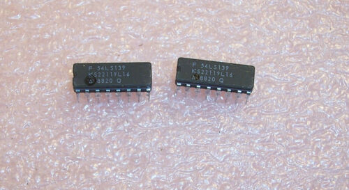 QTY 54LS139 FAIRCHILD 14 PIN CERAMIC DIP MIL-SPEC VERSION 74LS139 NOS 1 TUBE 25