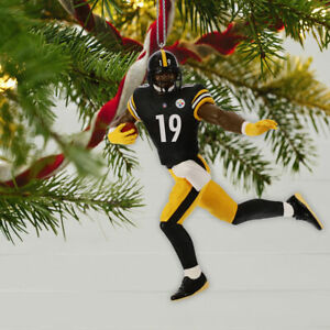 Christmas In Pittsburgh 2019.Details About 2019 Hallmark Nfl Pittsburgh Steelers Juju Smith Schuster Ornament