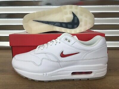 Nike Air Max 1 Premium SC Jewel Shoes White Red Ruby RARE SZ ( 918354 104 )