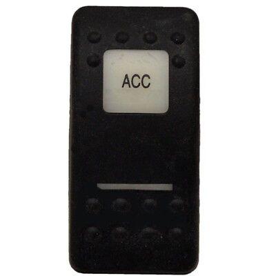 Carling Boat Rocker Switch Cover PlateBlack ACC Actuator