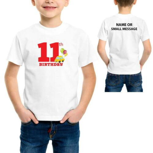 Cars 2 3 4 5 6 7 8 9 10 11 12 13 Years Birthday Personalised T-Shirt