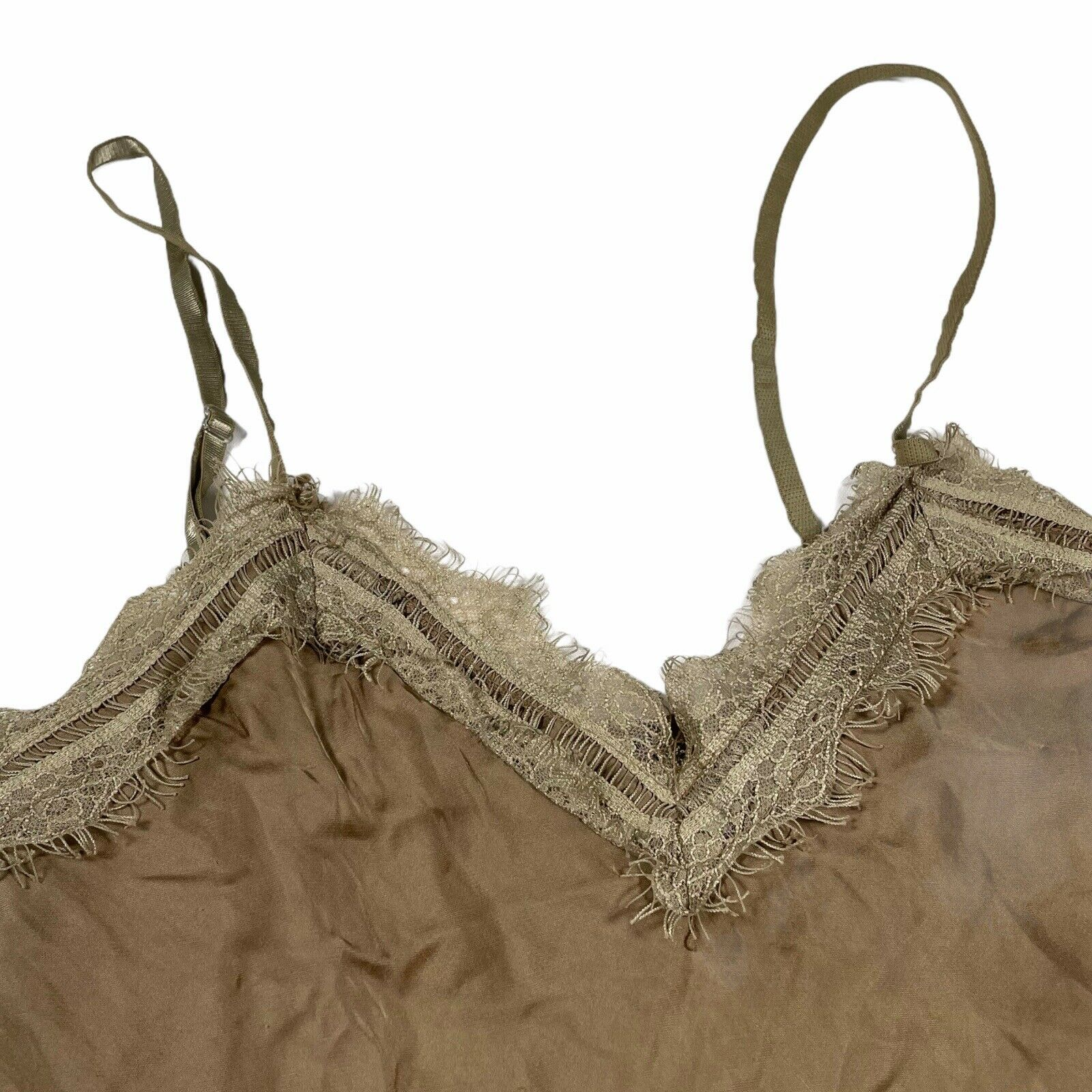 Vintage earthy lace cami fairycore - image 3