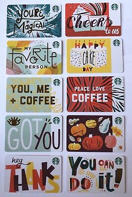 Starbucks 2018 Recycled Ten You /& Me Gift Card no value, new