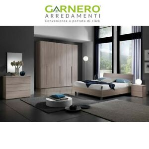 Camera da letto completa Omega legno design moderno comò comodini ...