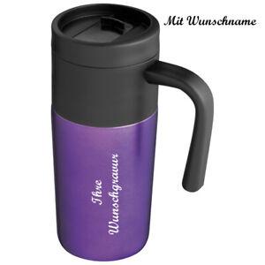 Thermobecher mit Namensgravur - Trinkbecher - 0,35l - Farbe: lila