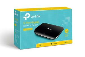 TP-Link TL-SG1005D 5-Port Gigabit Ethernet Network Desktop Switch Unmanaged