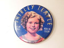Fox Videos 1994 advertising pin for colorized Shirely Temple videos