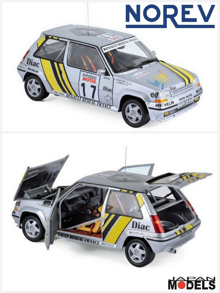 RENAULT SUPERCINQUE 5 GT TURBO Tour De Corse 1989 Norev 185215 Die Cast 1 18 New