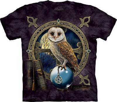 The Mountain Spell Keeper Owl Bird Animal Magic Goth Fantasy Mens Shirt 103815