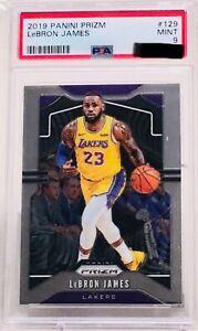 2019-20 Panini Prizm LeBron James #129 Los Angeles Lakers PSA 9