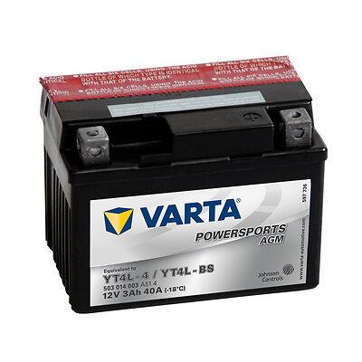 VARTA Powersports 12V 3 Ah YT4L-BS AGM Motorrabatterie 3Ah NEU OVP Batterie