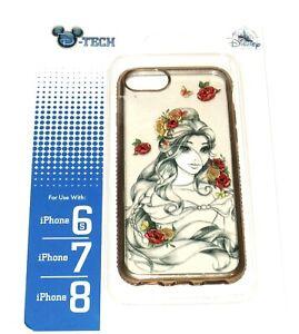 Disney Park DTech iPhone 8 7 6S Beauty Beast Belle Sketch Art Rose
