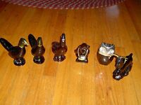 VINTAGE AVON -  LOT OF 6 - AFTERSHAVE BOTTLES/ DECANTERS - ALL ARE  EMPTY