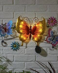 Solar-LED-Butterfly-Wall-Art-Decorative-Garden-Ornaments-Indoor-Outdoor-Light