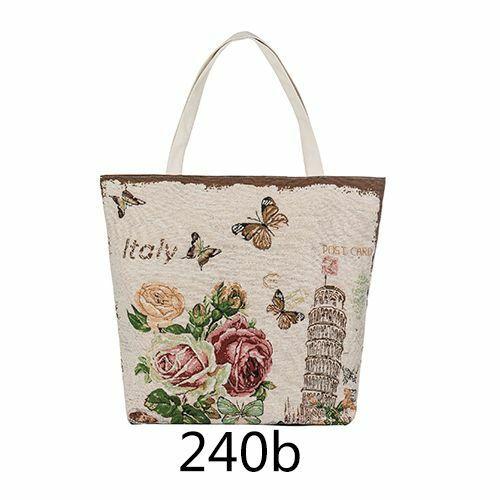 Floral Butterfly Printed Tote Women Large Canvas Handbag Shoulder Shopping Bag