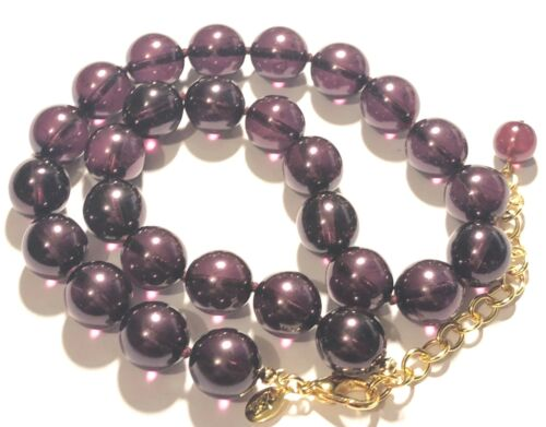 Joan Rivers Necklace Purple Czech Glass Beads