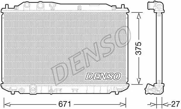 1x denso Radiador DRM40029 DRM40029