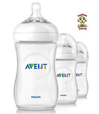 Avent Natural Feeding Bottle, New Design, 9 oz, 3 pack, BPA Free