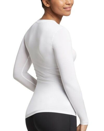 Tommie Copper Womens Shirt Core Support Compression Long Sleeve V Neck Shirt