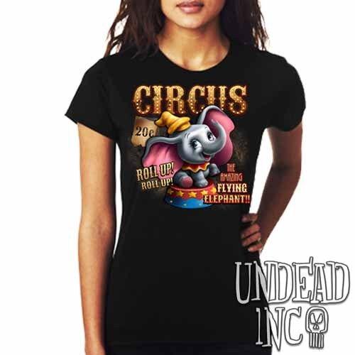 Dumbo Circus Ladies T Shirt Tee Top Disney