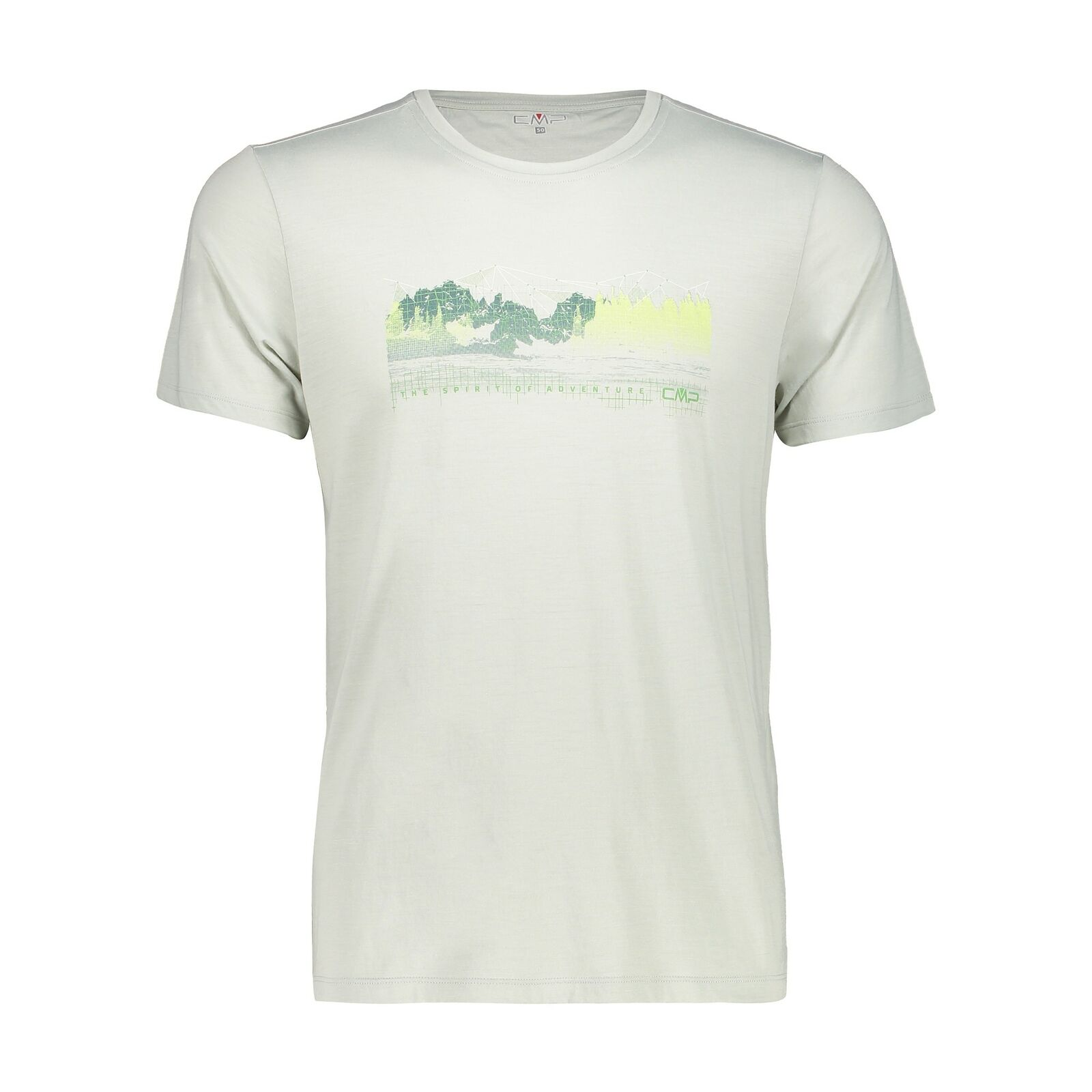 Functional  shirt CMP a t-shirt light grey breathable refreshing heating  discount