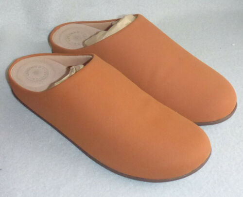 Tumbled Clog Mule Slip New 4 Ladies On Brown Sz Fitflop Chrissie Slippers Pu Tan z055Uq