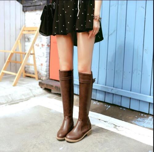 Hakken Blok Schoenen Retro Ridding Dames Laarzen Lage Britse Ridder U Warm m8n0wvN