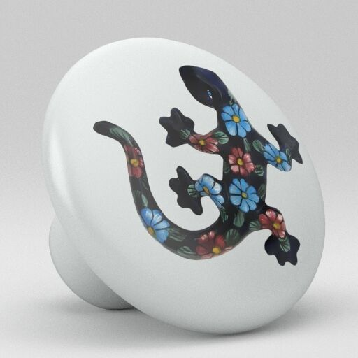 Talavera Lizard Design Ceramic Knobs Pulls Kitchen Drawer Cabinet Dresser 1218