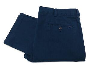 Polo-RALPH-LAUREN-Pantalon-Chino-Slim-Vintage-Lave-dans-Bleu-Marine-Bleu-Taille-36W-30L