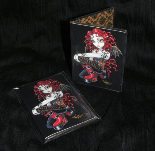 Gothic Red Rose Fairy Tattoo Wallet ID Business Card Holder Terri Myka Jelina