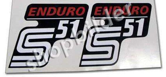 Aufkleber Simson S51 enduro