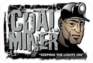 3-Coal-Miner-Keeping-the-Lights-on-Hard-Hat-Stickers-034-Sons-of-Coal-034-H559