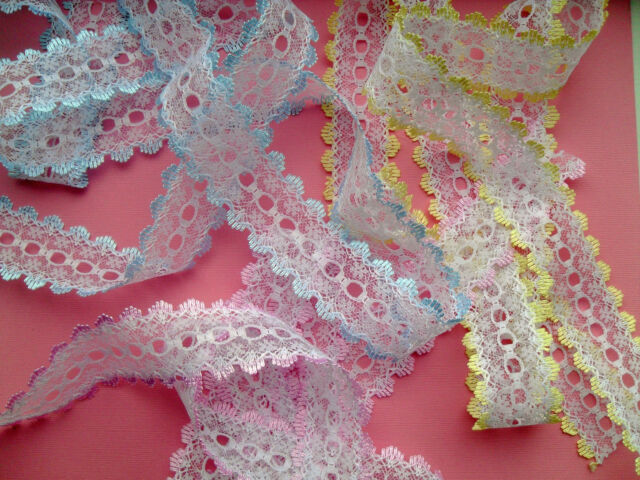 ~Eyelet Knitting Lace All Colours  Plus *NEW* Ombre Shades Trim Knit Sew