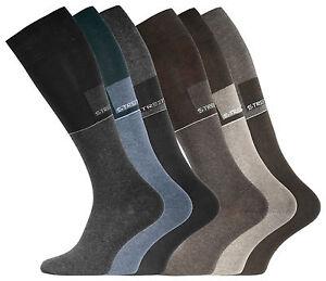 Damenmode Socken & Strümpfe Schnelle Lieferung Damen Comfort Kniestrümpfe Ohne Einschneidenden Gummibund In Blau Oder Braun