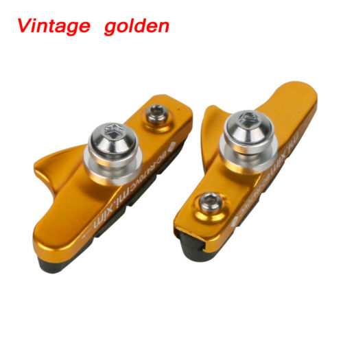 1 Pair Road Bike Bicycle Brake Shoes Pads 55mm For C-Brake Cycling Fittings New
