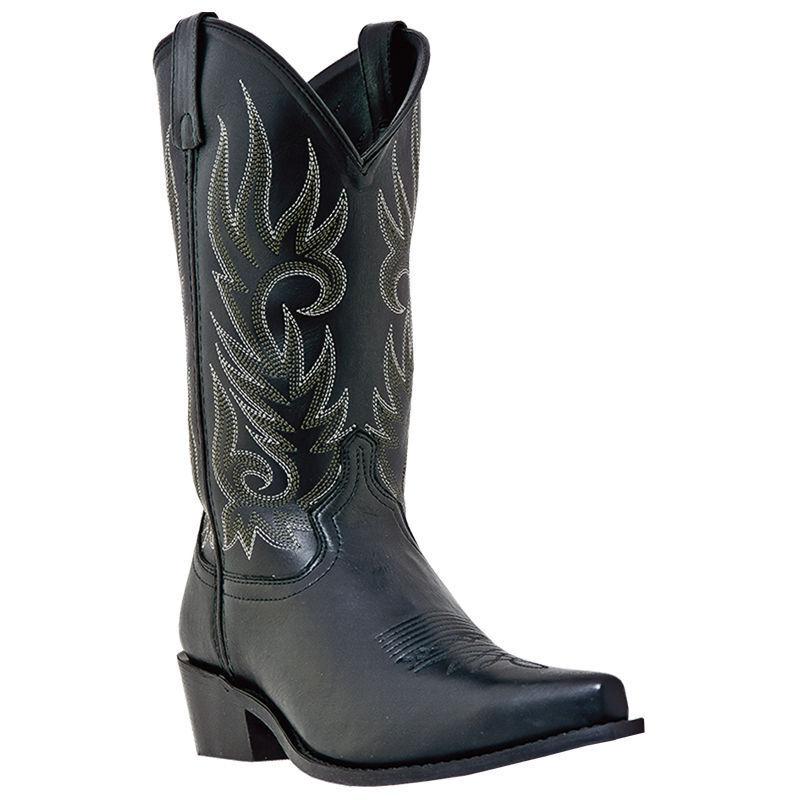 shopping online e negozio di moda Laredo Donna    nero   Tan Crazy Horse Snip Toe 12  Western Cowboy stivali 6-10  consegna lampo