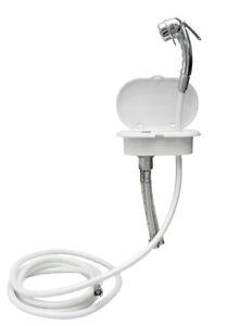 verch brausearmatur 4m schlauch mischbatterie kasten klappe wei dusche ebay. Black Bedroom Furniture Sets. Home Design Ideas