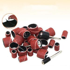 132pcs Sanding Band Drum Sleeves Sandpaper Ring Set Mandrels Rotary Tool DIY