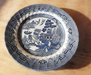 Image is loading Churchill-Wessex-Collection-Willow-Pattern-Dinner-Plates -10- & Churchill Wessex Collection Willow Pattern Dinner Plates 10