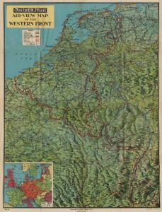 Map Of Western France.Details About Western Front 1940 Bird S Eye View Before Invasion Of France Ww2 1940 Map
