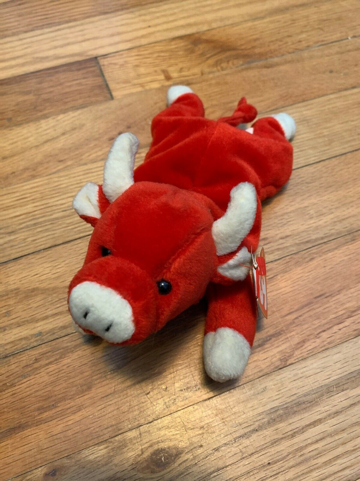 TY Beanie Babies  SNORT  Red Bull - MWMTs  RETIRED  A MUST HAVE  GREAT GIFT