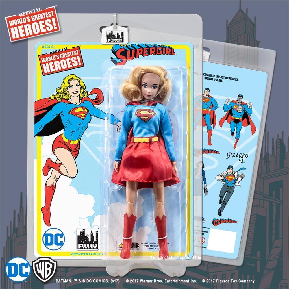 DC Comics Retro 8 in (approx. 20.32 cm) Figura De Acción De súperman súpergirl [Vestido variante] Nuevo