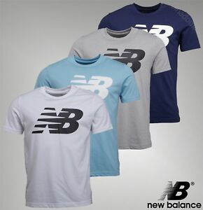 Mens-New-Balance-Printed-Logo-Short-Sleeve-Jersey-T-Shirt-Sizes-from-S-to-XXL