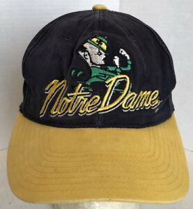 e2fe5fe67b1aa usa image is loading vintage notre dame fighting irish ncaa snapback hat  762f7 aae1e